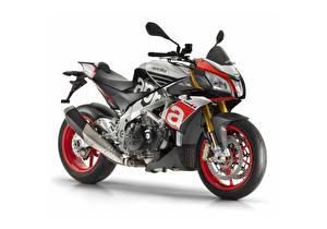 Картинка Aprilia Стайлинг Белый фон 2015-18 Tuono V4 1100 Factory мотоцикл