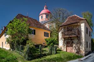 Фотографии Австрия Дома Церковь Купола Pöllau, Eastern Styria Города