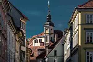 Фотографии Австрия Дома Церковь Graz, Stiegenkirche город