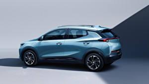 Обои Buick Голубая Металлик Сбоку CUV Velite 7 2020 Автомобили