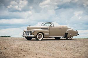 Картинка Cadillac Старинные Металлик Сбоку Sixty-Two Convertible Coupe Deluxe, 1941 машина