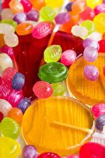 Картинка Конфеты Леденцы Разноцветные Пища