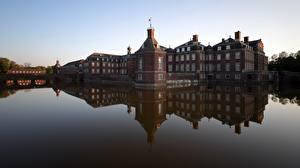 Обои Замок Пруд Германия Отражение Nordkirchen Palace, North Rhine-Westphalia Города