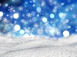 Картинка Рождество Снежинки Снега