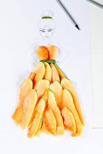 Фотографии Оригинальные Кусочек Papaya Еда Девушки