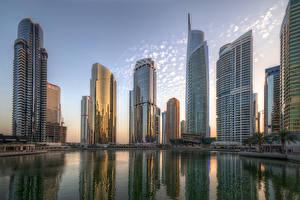 Фото ОАЭ Дубай Дома Небоскребы Jumeirah Lakes Towers
