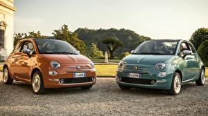 Обои Fiat Металлик Вдвоем 500C Anniversario 312, 2017 машины