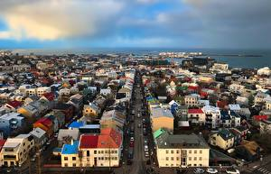 Фото Исландия Дома Улица Reykjavik Города