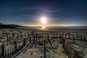 Картинка Ирландия Побережье Солнца Пляжа Donegal, Maghery Beach