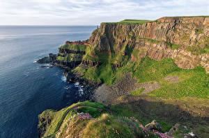 Обои Ирландия Побережье Океан Скала Giants Causeway