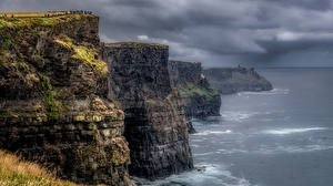 Фотографии Ирландия Море Скале Туч Clare, Cliffs of Moher Природа