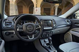 Фото Jeep Салоны Рулевое колесо Кроссовер Compass Limited 4xe, EU-spec, 2020 Автомобили