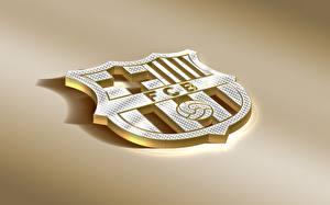 Картинки Логотип эмблема Футбол FC Barcelona, Barca, Emblem, Spanish Club