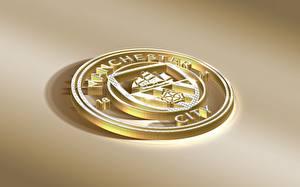 Обои Логотип эмблема Футбол Manchester City, English Club