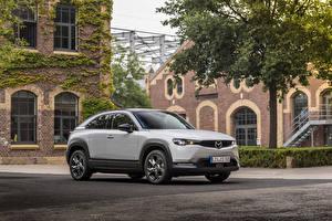 Фотографии Mazda Белая Металлик 2020 MX-30 Worldwide Автомобили