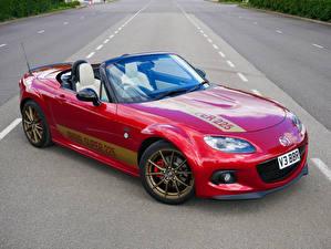 Фотографии Mazda Красная Металлик Кабриолета 2020 MX-5 BBR Super машина