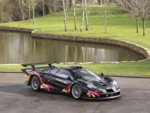 Картинка Макларен Стайлинг Черные F1 GTR Longtail Road Conversion авто
