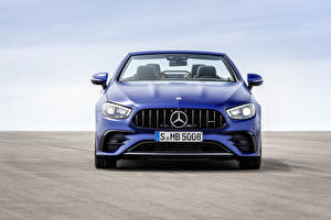 Фото Mercedes-Benz Кабриолета Синих Металлик Спереди E 53 4MATIC, Cabrio Worldwide, A238, 2020 автомобиль
