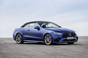 Фото Mercedes-Benz Синяя Металлик Кабриолета E 53 4MATIC, Cabrio Worldwide, A238, 2020 Автомобили