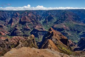 Фотография Гора Гавайские острова Каньон Waimea Canyon Kauai