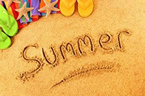 Фотография Лето Текст Английская Песка