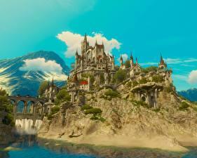 Фотография The Witcher 3: Wild Hunt Замок Крепость Игры