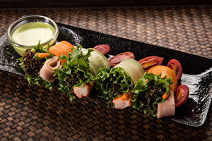 Фотография Томаты Овощи Рыба