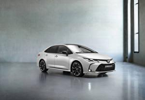 Обои Toyota Белый Металлик Corolla Hybrid Sedan GR Sport, 2020 Автомобили