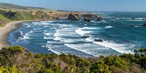 Фотографии США Берег Море Волны Калифорния
