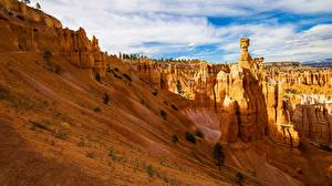 Картинки Америка Парки Каньон Облако Bryce Canyon, Utah
