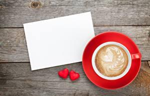 Фотография День всех влюблённых Капучино Сердце Шаблон поздравительной открытки Чашка Блюдца Пища