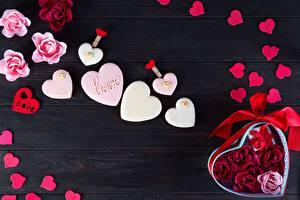 Фотография День святого Валентина Сердца Доски Бордоский дог