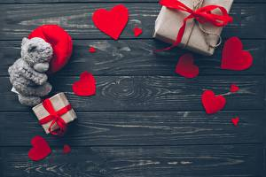 Фото День святого Валентина Сердце Доски Шаблон поздравительной открытки Подарок