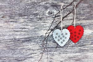Обои День всех влюблённых Две Сердце Шаблон поздравительной открытки