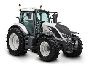 Фотографии Тракторы Серая Белый фон Valtra T254