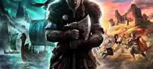 Картинки Assassin's Creed С топором Викинг Valhalla, by BossLogic компьютерная игра