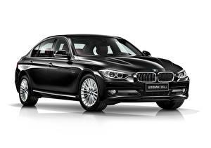 Обои BMW Черный Металлик Белом фоне 328Li Sedan Luxury Line, China F35, 2012–16 машины