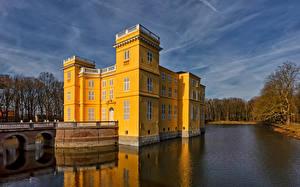 Фотографии Бельгия Замки Пруд D'Ursel Castle Природа