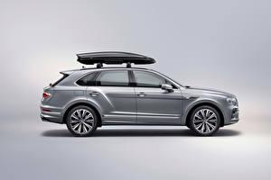 Фотография Bentley CUV Серый Металлик Сбоку Bentayga V8 Worldwide, 2020 Автомобили