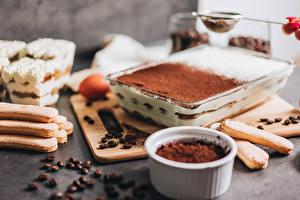 Фотографии Торты Кофе Печенье Какао порошок Зерно Tiramisu