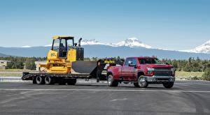 Фотография Шевроле Пикап кузов Красные Трактор Silverado, 3500 HD, LTZ Crew Cab, 2019 Автомобили