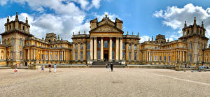 Картинки Англия Дворец Blenheim Palace in Oxfordshire
