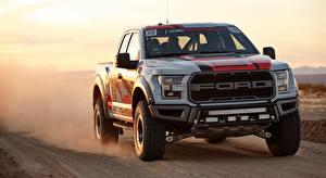 Обои Ford Пикап кузов Движение F-150, Raptor, Race Truck, 2016 Автомобили картинки