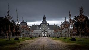 Картинки Франция Замок Wimereux Природа