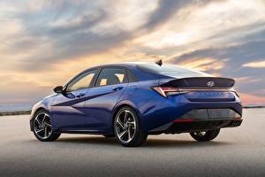 Обои Hyundai Синих Металлик Elantra N Line CN7, 2020 Автомобили