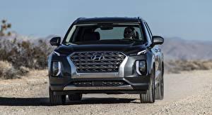 Фото Hyundai Спереди Металлик SUV Palisade US-spec, 2019 автомобиль