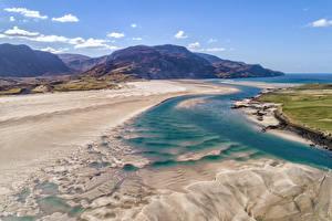 Картинки Ирландия Побережье Горы Donegal