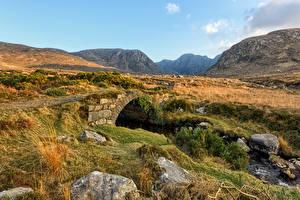 Фото Ирландия Гора Камень Мосты Каменные Dunlewey, Donegal Природа