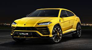 Обои для рабочего стола Lamborghini CUV Желтых Металлик Urus Concept, SSUV, 2017 авто