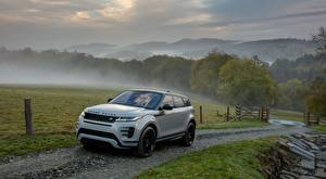 Обои Land Rover Дороги Туман SUV Металлик Evoque, P300 HSE R-Dynamic, Black Pack, US-spec, 2019 машина